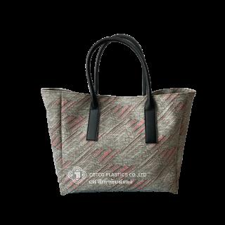 กระเป๋า CH สีเทาพิมพ์แดง (ใหญ่)